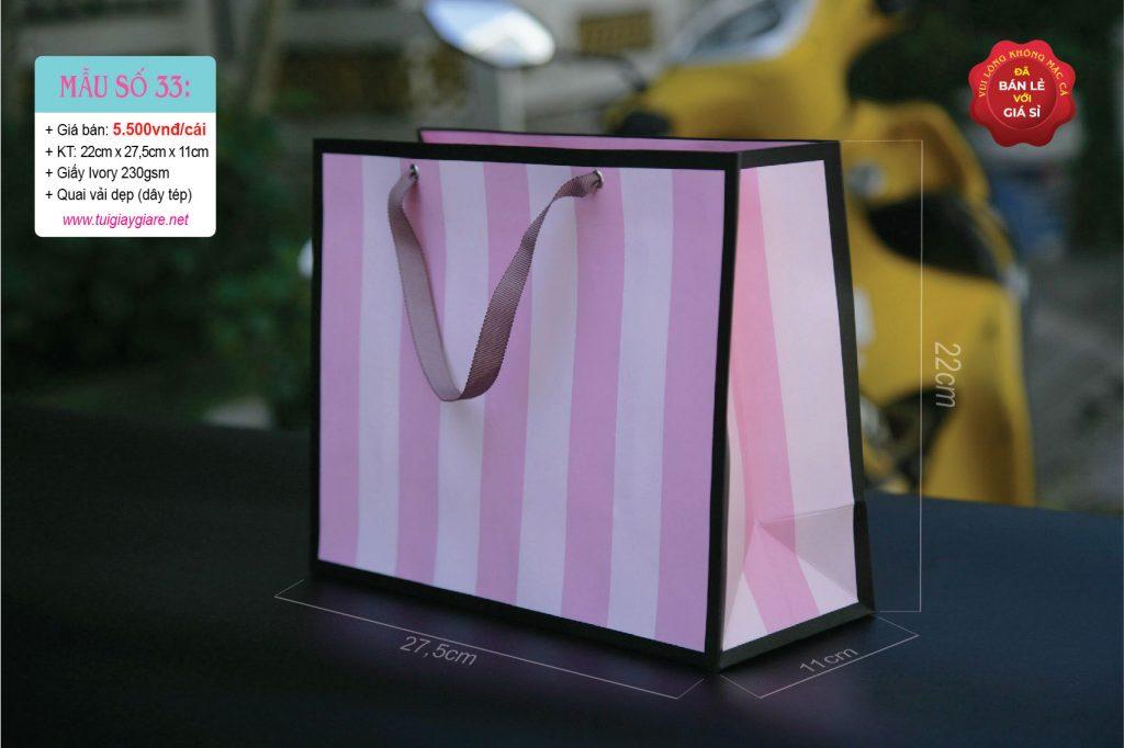Túi giấy đựng thời trang nữ
