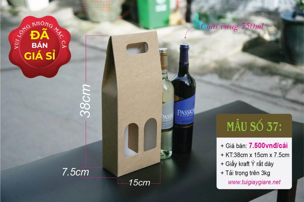 Hộp đựng cặp rượu vang 750ml