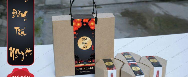 Hồng Đăng Tiếu Nguyệt (Bộ hộp bánh trung thu 4 bánh)