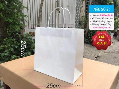 Túi giấy kraft trắng đựng quần áo