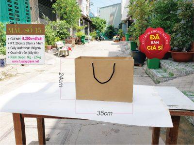 Túi giấy kraft size L