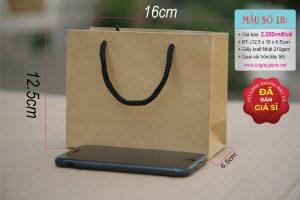 Túi giấy Kraft ngang mini do công ty Vũ Thị sản xuất