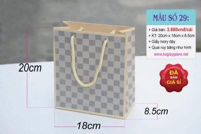 Túi giấy họa tiết Ca rô