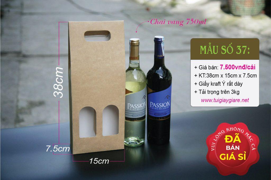 Hộp chứa rượu vang 750ml