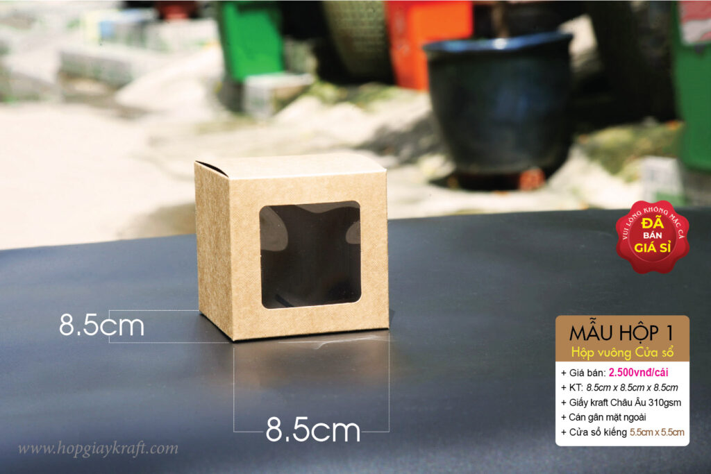 Kraft paper box with support