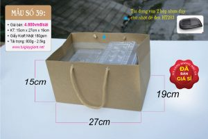 Túi giấy đựng hộp thực phẩm lớn