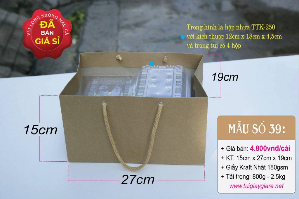 Túi giấy đựng hộp thức ăn lớn