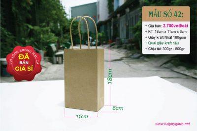 Quai túi được sản xuất từ giấy kraft