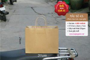 Túi giấy kraft ngang size M