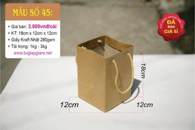 Túi đáy vuông 12cm