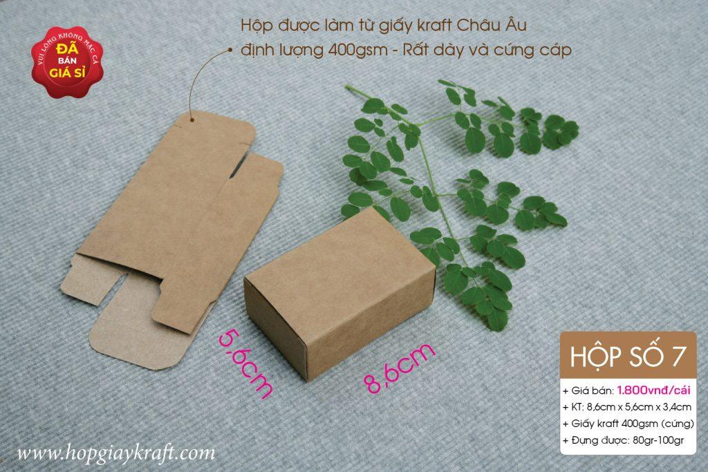Hộp giấy kraft dành cho sản phẩm handmade