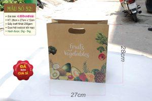 Túi giấy đựng hoa quả tươi