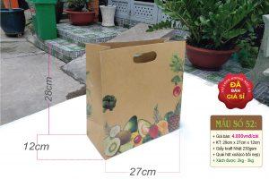 Túi giấy đựng trái cây