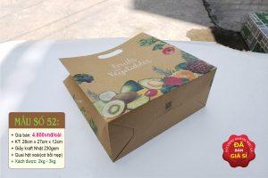 Túi giấy đựng rau sạch