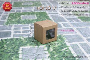 hộp giấy kraft có cửa sổ kiếng