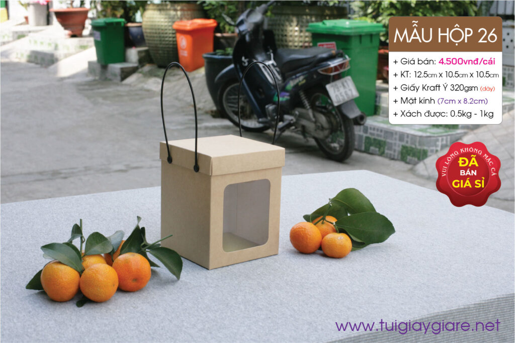 Hộp giấy kraft nắp rời - Đựng hàng hóa, quà tặng do cty Vũ Thị sản xuất và phân phối