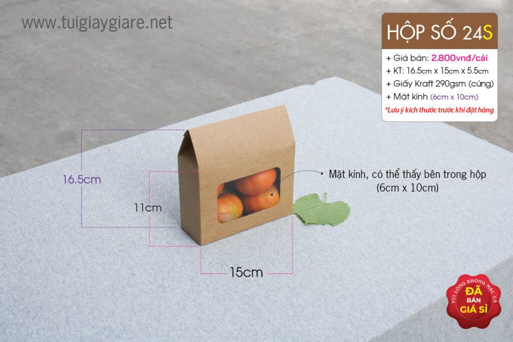 kraft paper box tôm khô, hạt ngũ cốc huệ điền