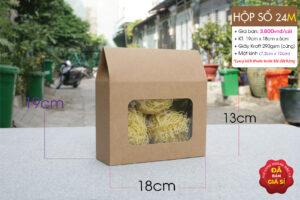 Hộp giấy kraft có cửa sổ huệ điền đựng Thực phẩm ngày tết