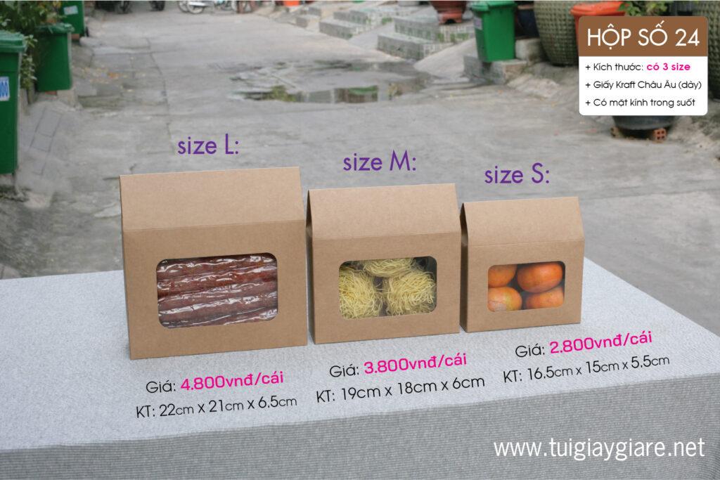 Hộp đựng nông sản, giấy huệ điền lạp xưởng, xúc xích, tôm khô, Thực phẩm ngày tết kraft paper box for food