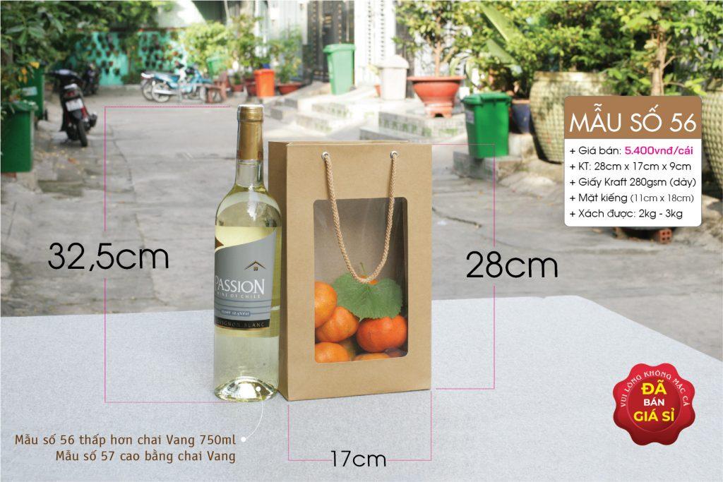 Túi đựng 2 chai mật ong, mật nho, hoa sáp